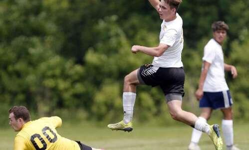 Boys 1A soccer quarterfinals - Center Point-Urbana vs Columbus Catholic