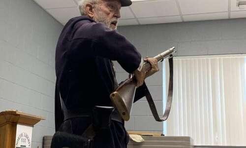 Civil War soldier pays visit 'in spirit' to North Liberty