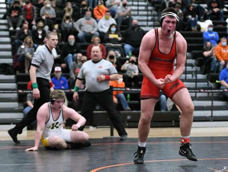 Photos: Class 3A Iowa high school wrestling district at Cedar Rapids Prairie