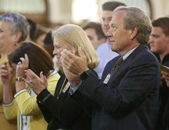University of Iowa President Harreld has given $480K to campus during tenure