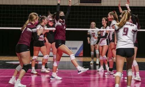 Photos: Mount Vernon vs. Union, Iowa Class 3A state volleyball…