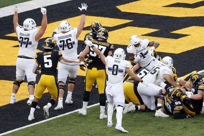Iowa eliminated from Big Ten football championship race — apparently