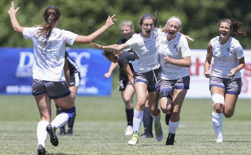 Ella Kluesner's OT goal gives Cedar Rapids Xavier its 10th girls' state soccer title