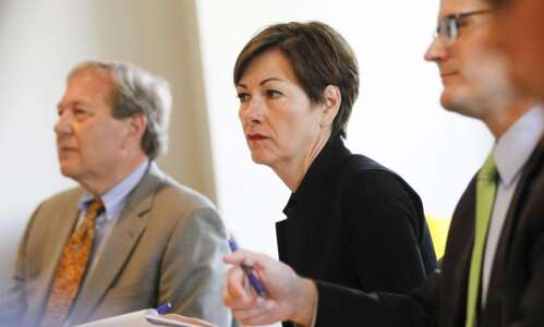 Gov. Kim Reynolds' visit to regents coincides with major utilities…