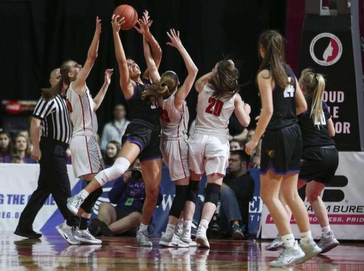 Photos: Iowa City High vs. Johnston, Iowa Class 5A girls' state basketball semifinals