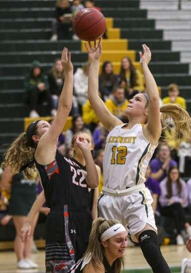 Photos: Cedar Rapids Prairie vs. Cedar Rapids Kennedy, Iowa high school girls' basketball