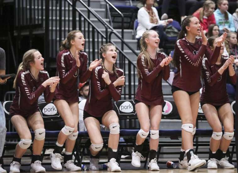 Photos: Western Christian vs. Osage, Iowa Class 2A state volleyball semifinal