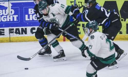 Jason Polin scores Cedar Rapids RoughRiders record 5 goals in…
