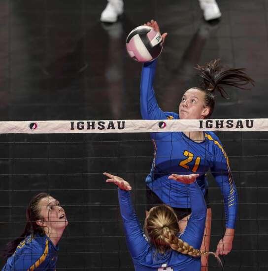 Photos: Wilton vs. Van Meter, Iowa Class 2A state volleyball quarterfinals