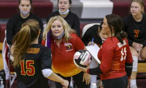 Marion drops 5-set regional volleyball final to Dallas Center-Grimes