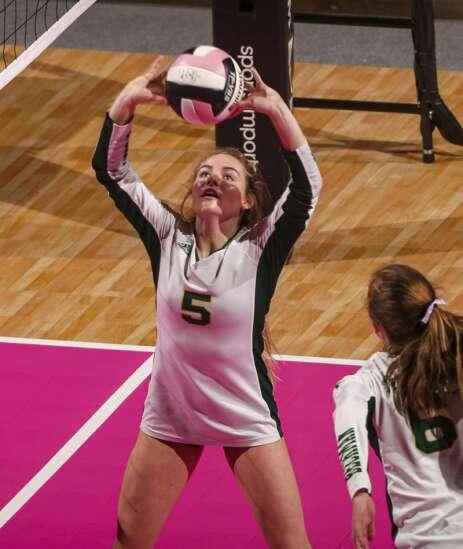 Photos: Dyersville Beckman vs. Clarion CGD, Iowa Class 2A state volleyball semifinals