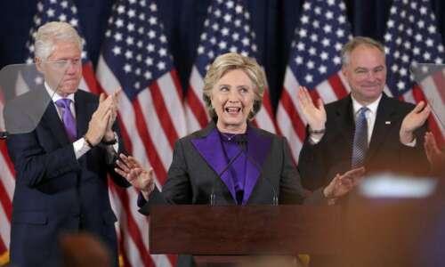 Clinton concedes election, urges open mind on Trump