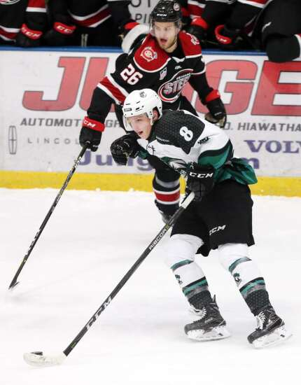 Harry Roy of Cedar Rapids RoughRiders survives top prospects game ... and his finals
