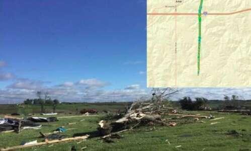 Western Iowa tornado kills woman, seriously injures man