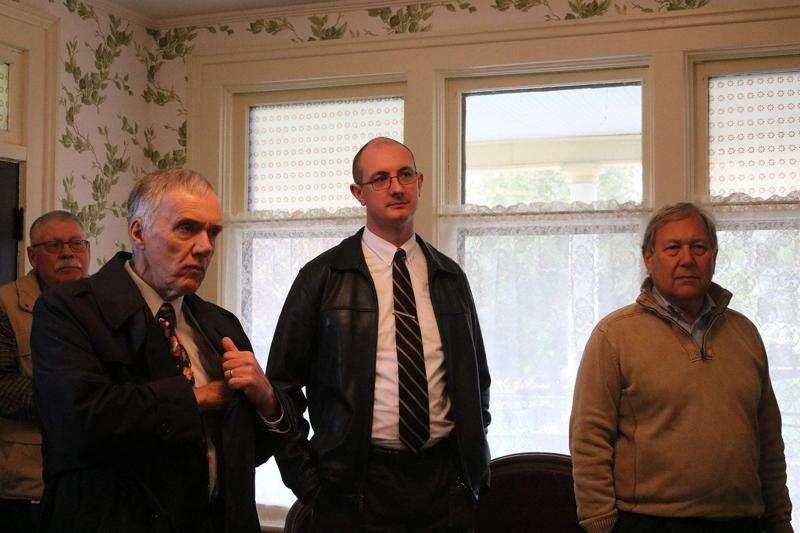 University of Iowa faculty visit the Van Allen House