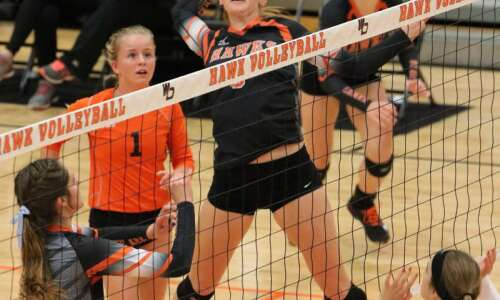 West Delaware volleyball photos