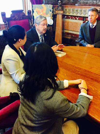 Branstad looking for 'win-win' in China