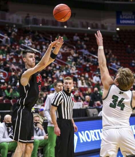 Photos: Monticello vs. Pella, Iowa Class 3A boys state basketball quarterfinals