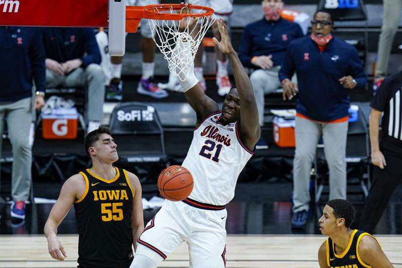 Iowa looks ahead after getting dunked on by Illinois in Big Ten tournament