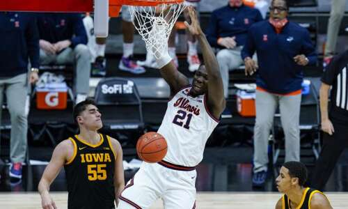 Iowa looks ahead after getting dunked on by Illinois in…