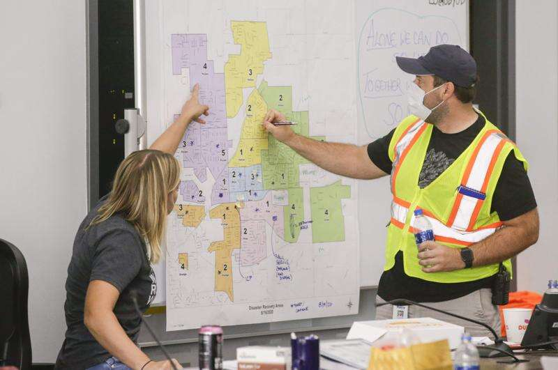 Uptown Marion transformed into disaster recovery center