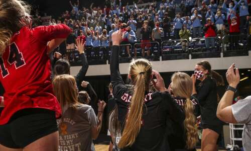 Photos: North Scott vs. Gilbert, Iowa Class 4A state volleyball…