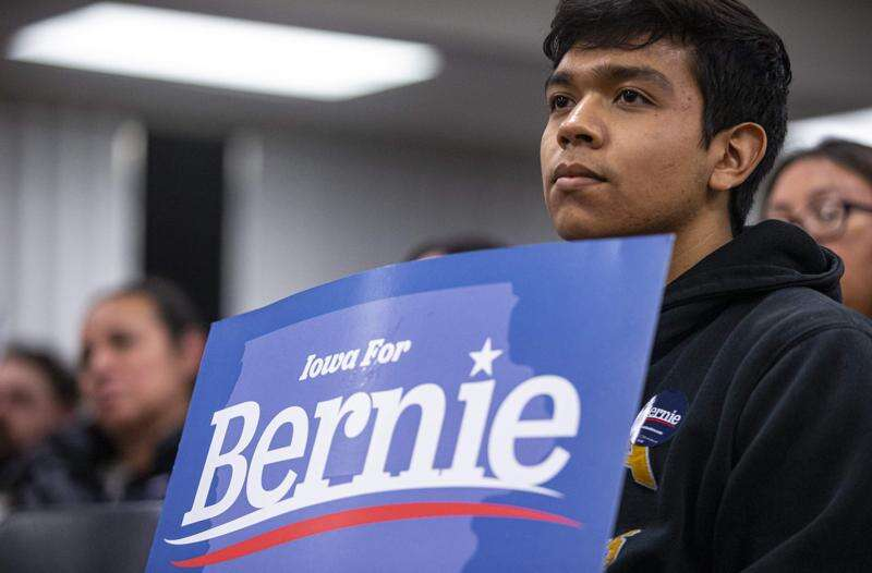 Bernie Sanders gets big support from Latino caucusgoers in West Liberty