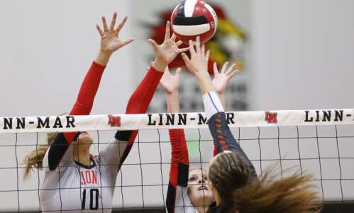 Carly Spies regaining form, helps Linn-Mar return to state volleyball