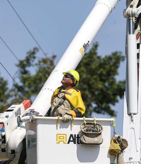More than half of Alliant's customers have power in Linn County heading into Sunday evening