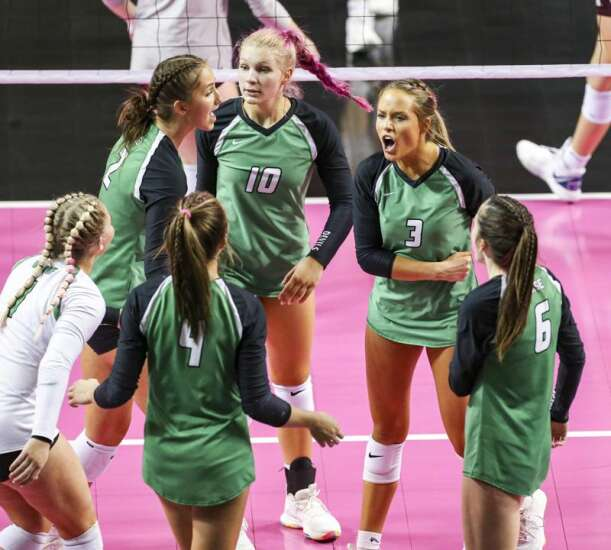 Photos: Osage vs Mount Vernon, Iowa Class 3A state volleyball final