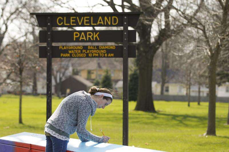 'Metal coffin' at Cleveland Park being covered with mural