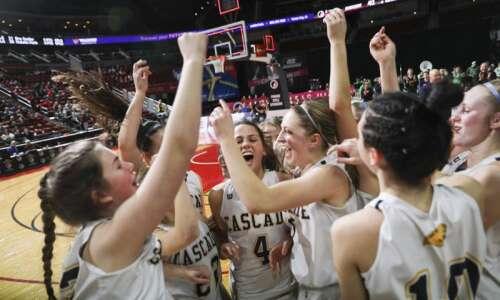 Photos: Cascade vs. Denver, Iowa Class 2A girls' state basketball…