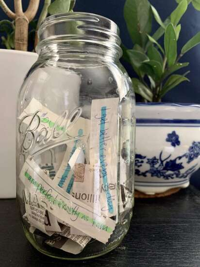 Make your own luck with this jar of positive messages
