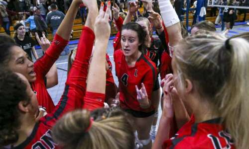 Lisbon volleyball sweeps its way to third TRC division crown…