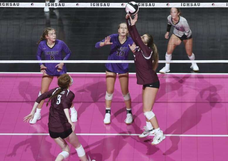 Photos: Iowa City Liberty vs. West Des Moines Dowling, Iowa Class 5A state volleyball tournament semifinals