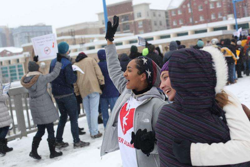 'Fight for me, fight for us:' Thousands brave snowstorm for March For Our Lives in Iowa