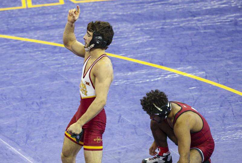 Iowa State in a tight team race after day 1 of Big 12 Wrestling Championships