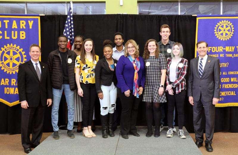 Eight Cedar Rapids area high school students earn 2020 Service Above Self Awards