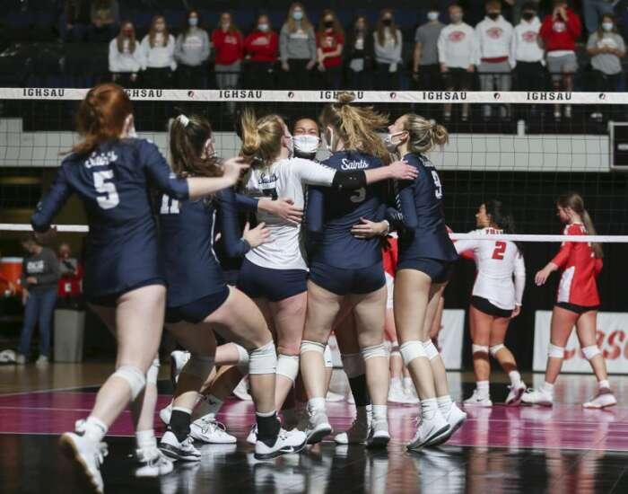 No. 1 Xavier shows fire, torches Dallas Center-Grimes in state volleyball quarterfinals