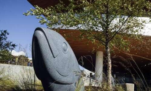 'Wellspring' of art at Hancher as granite fish sculptures make…