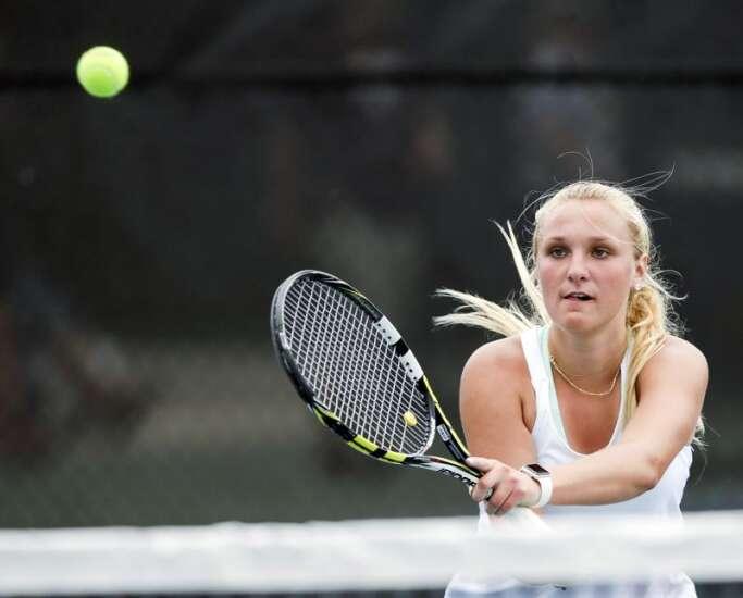 Cedar Rapids Xavier's Emily Jasper, Miyako Coffey win Class 1A doubles title