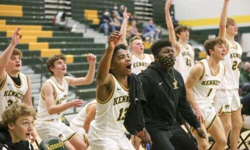 Photos: C.R. Jefferson vs. C.R. Kennedy, Iowa high school boys'…