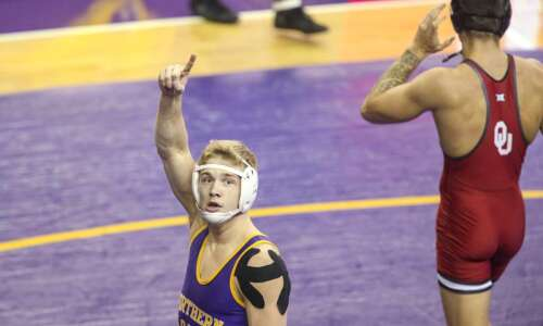 Photos: Northern Iowa and Iowa State vs. Oklahoma wrestling