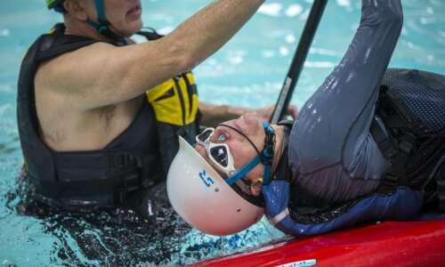 Video: Kayakers practice their skills in Cedar Rapids