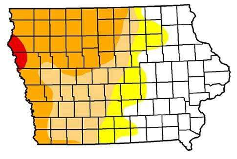 Drought area shrinking, but western Iowa still dealing with dry soil