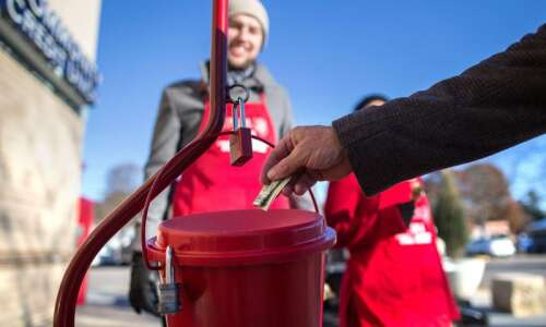Donations to Salvation Army's red kettles down $50,000 in Linn…