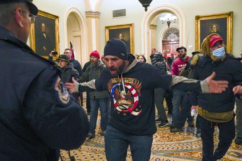 Charges upgraded against Capitol riot suspect from Iowa
