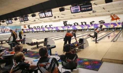 Photos: Iowa high school boys' bowling district tournament at Lancer…