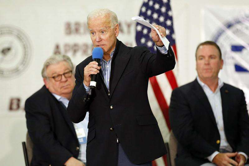 Joe Biden says isn't worried about Iowa, despite all the slipping and sliding