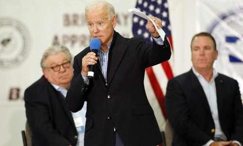 Joe Biden says isn't worried about Iowa, despite all the…